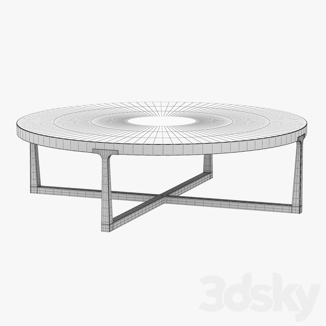 T-BRACE ROUND COFFEE TABLE 55