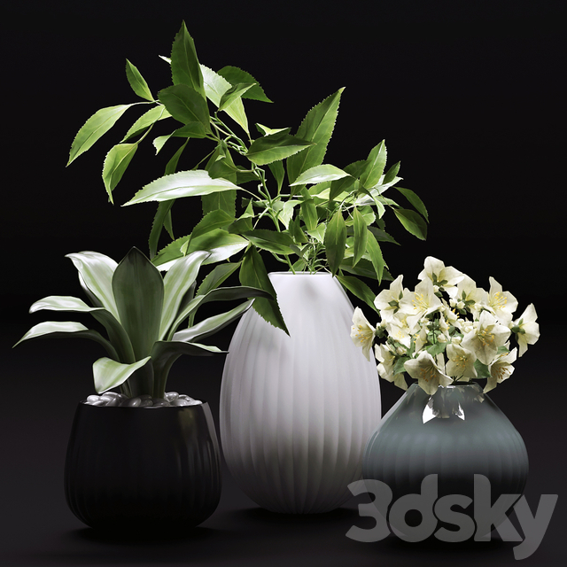 Bouquet of flowers in a vase 36