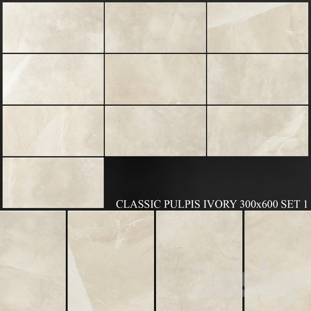Yurtbay Seramik Classic Pulpis Ivory 300x600 Set 1