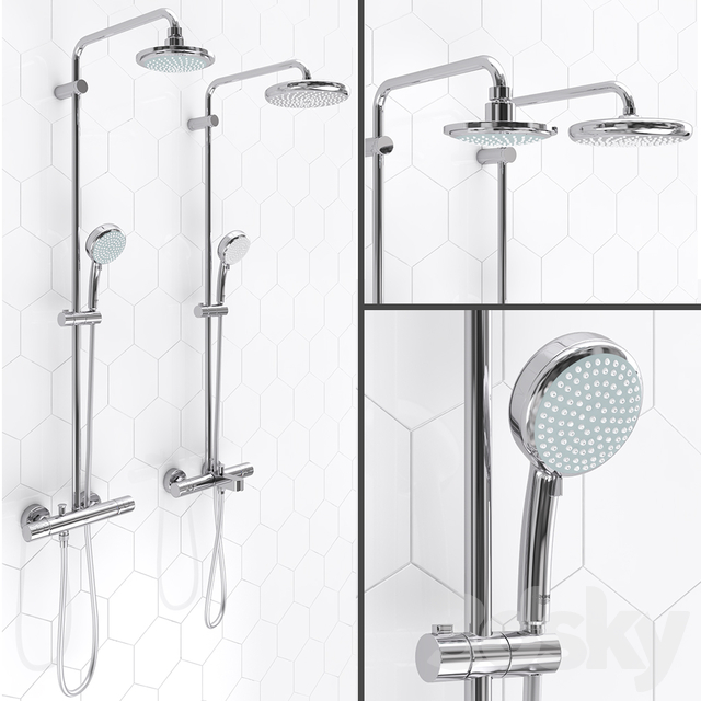Shower systems GROHE | Tempesta Cosmopolitan 160 and 210
