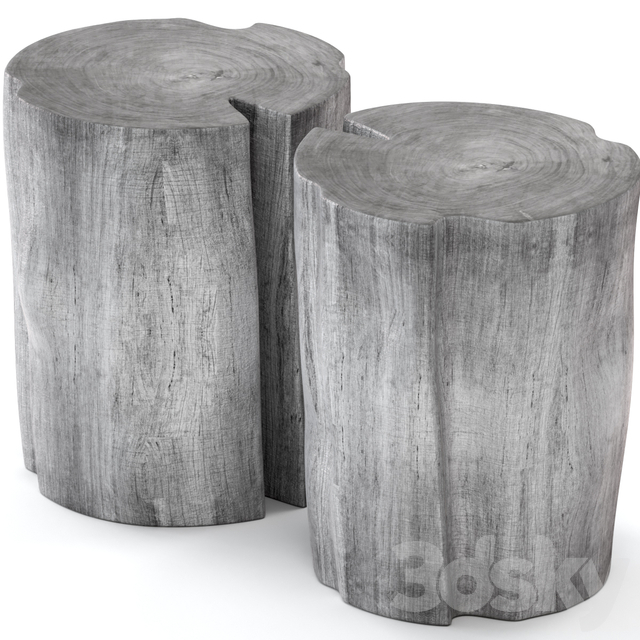 Gray stump tables.