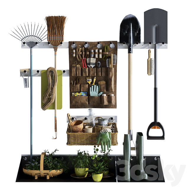 Storage of garden equipment