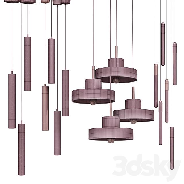 Four Pendant Lights amazing set vol13