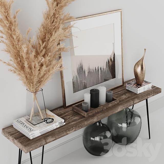 Decoration Set 01 pampas & Console
