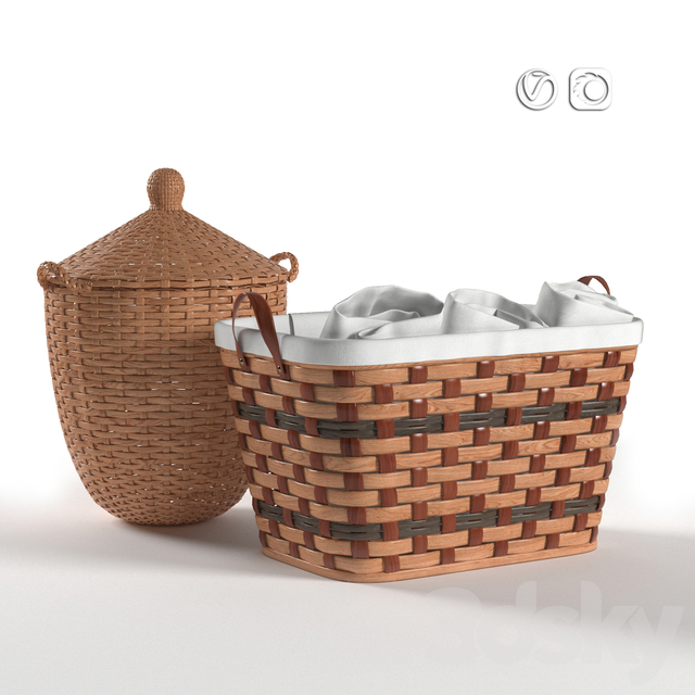Laundry and Storage Wicker Baskets