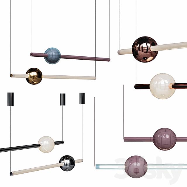Lee Broom ORION GLOBE LIGHT Set Gold / Chrome / Copper / Black