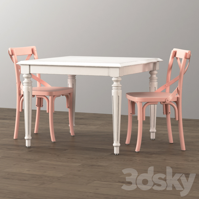 FRENCH EMPIRE SQUARE PLAY TABLE
