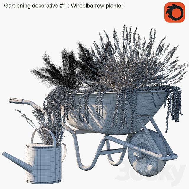 Gardening decorative # 1: Wheelbarrow planter