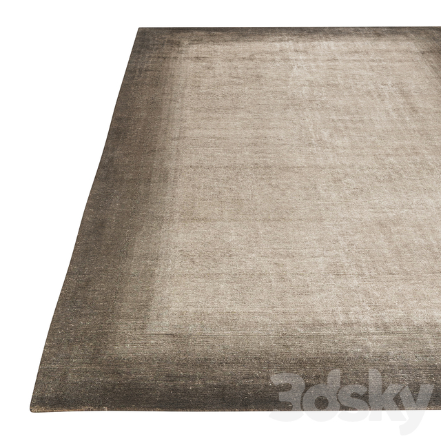 Bamboo Corner Rug Charcoal   Blue by The Rug Company