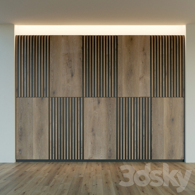 Wall panel made of wood. Decorative wall. 46