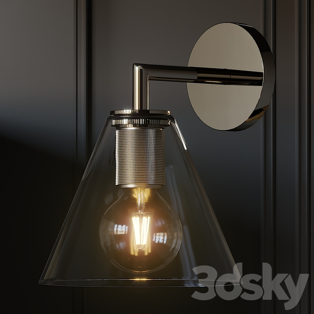 Utilitaire Funnel Shade Single Sconce