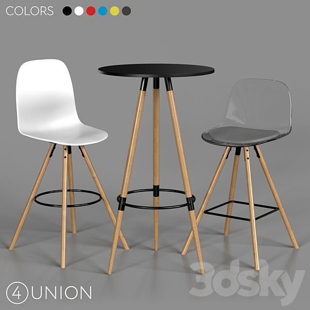 Bar stools and table BC-8056