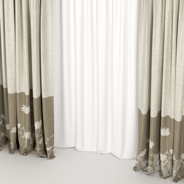 Beige curtains