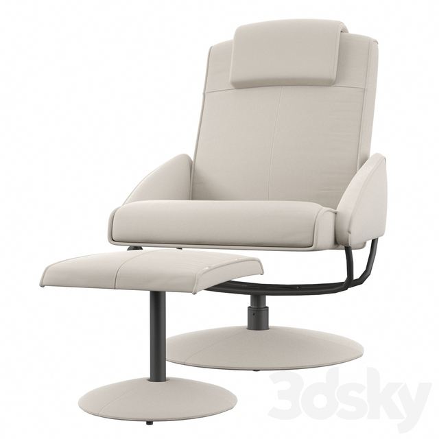 Kansas Manual Recliner with Footstool