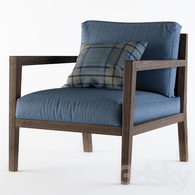 Poliform Camilla Armchair Blue