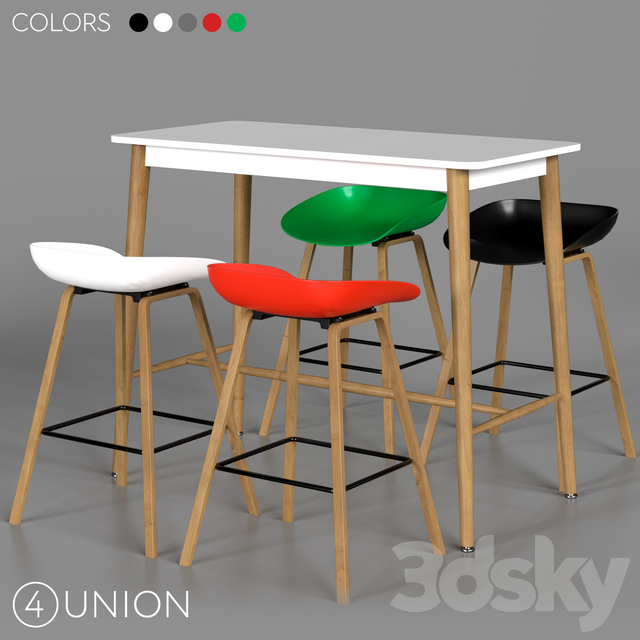 Bar stools and table BC-8319