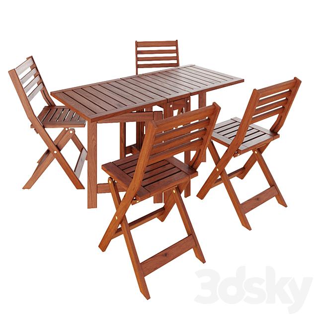 IKEA Applaro, foldable table & chairs