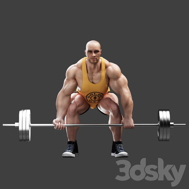 Bodybuilder. Deadlift