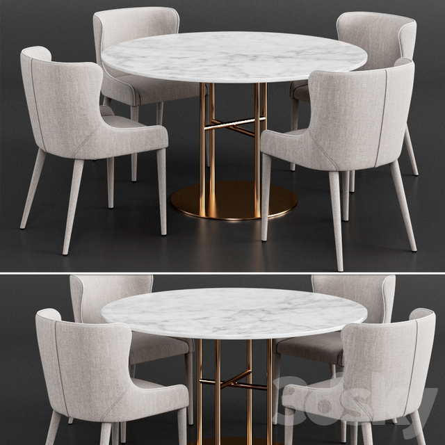 3d Models Table Chair Coco Republic Markson Dining Chair Flex Dining Table