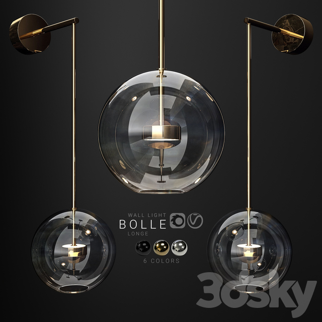 Wall light Giopato and Coombes Bolle vertical longe