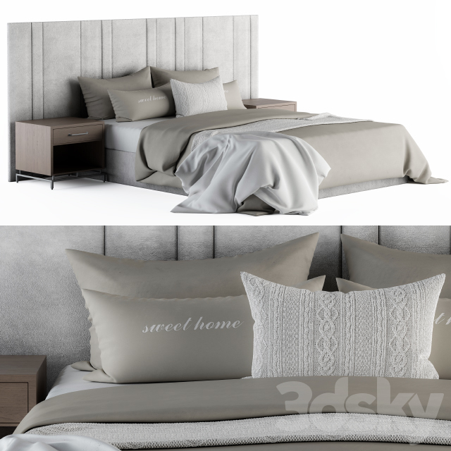 Bed Set White and Cream