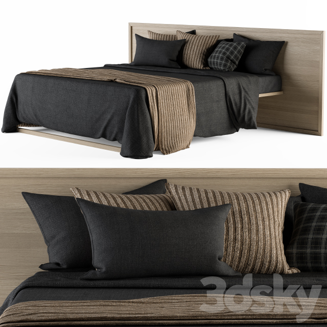 Bed Set Black And Wood