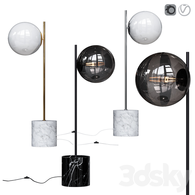 West Elm Sphere and Stem Table Lamp