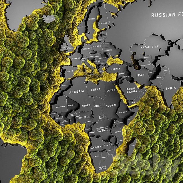 Vertical garden world map