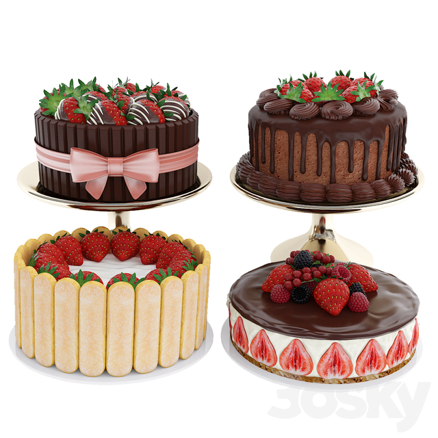 Strawberry cake collection