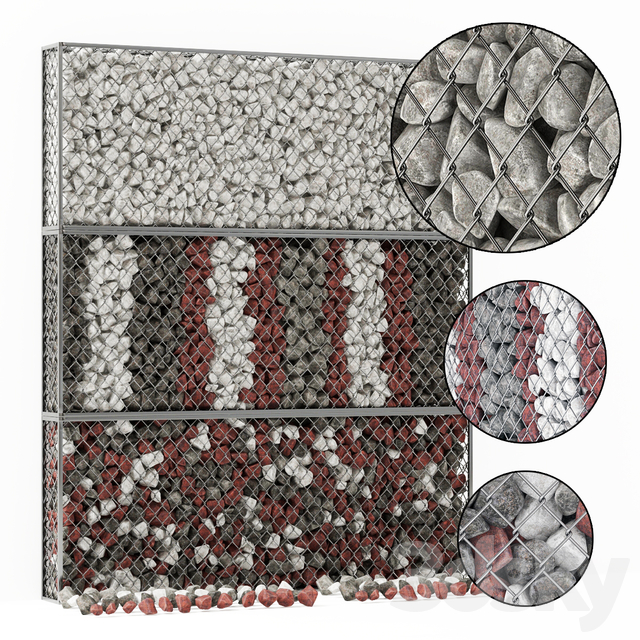 Gabion medium stone color