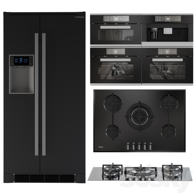 Kitchen Appliance Kit Black