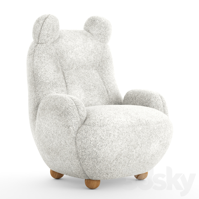 3d models: Arm chair - Papa bear armchair