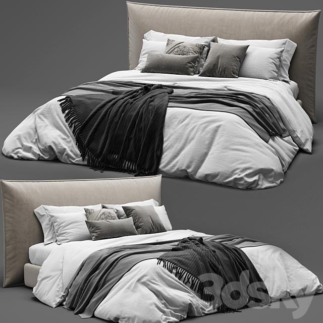 BoConcept Gent Bed - Scandinavian Set