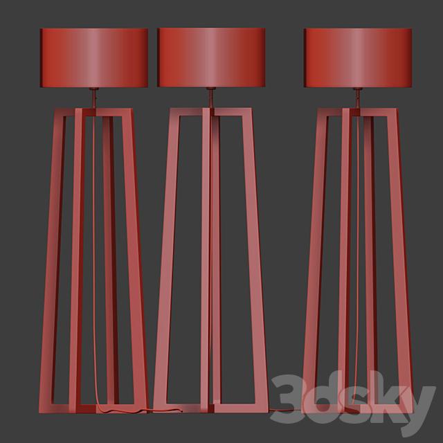 wooden Floor Lamp 03