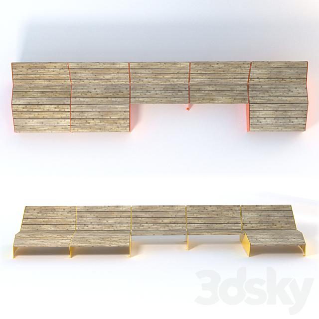 Vestre BLOC Sun bench / 3