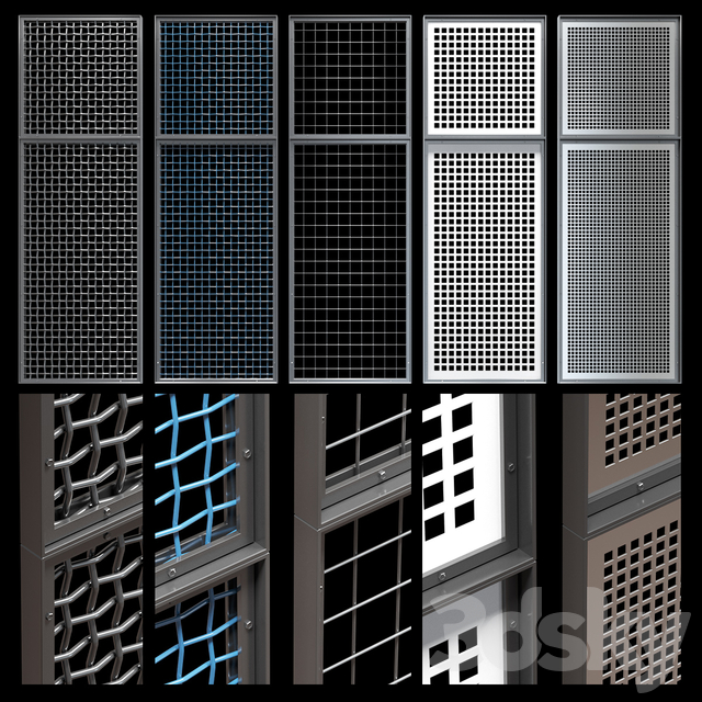 Decorative metal lattices - Quad