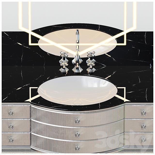 Silver Bathroom Furniture
