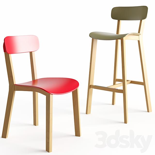 Cream stool