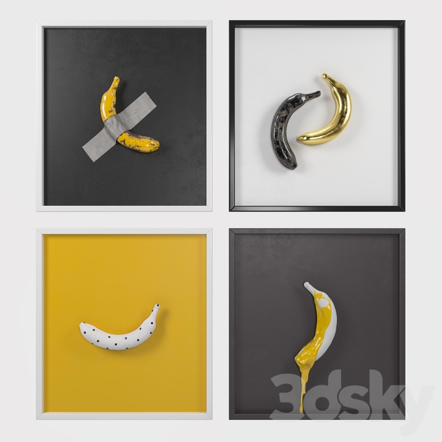 Banana art composition