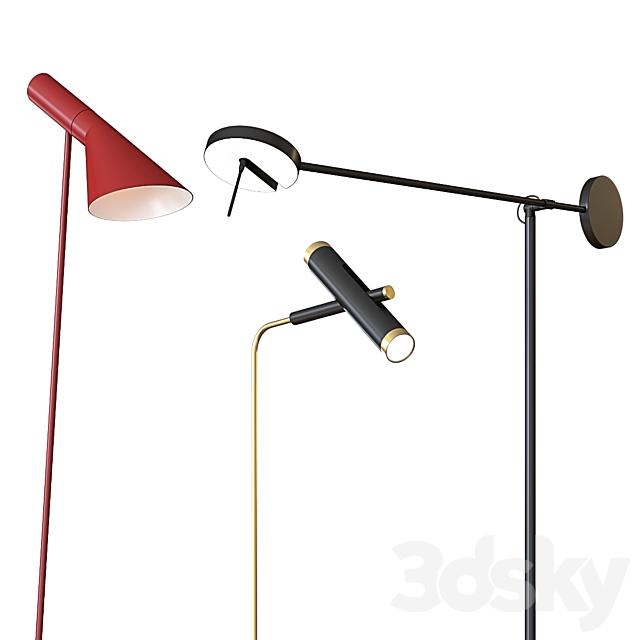 A set of floor lamps. Favorite. Louis Poulsen GROK