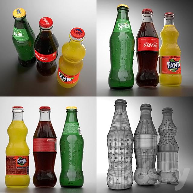 Coca Cola, Fanta, Sprite 0.25l