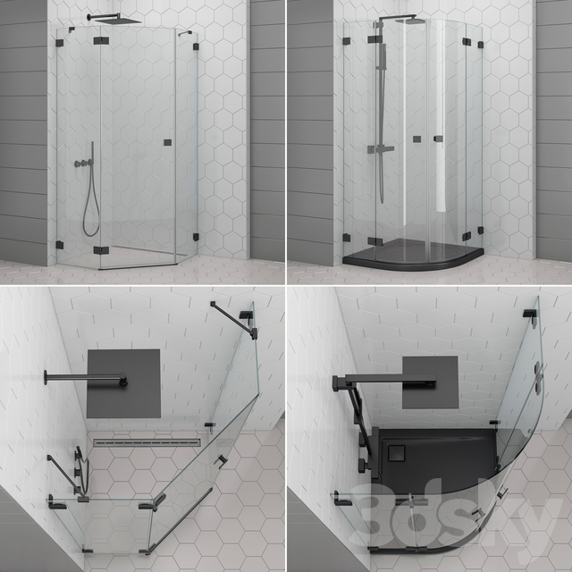 Shower enclosures and doors Radaway | Essenza black