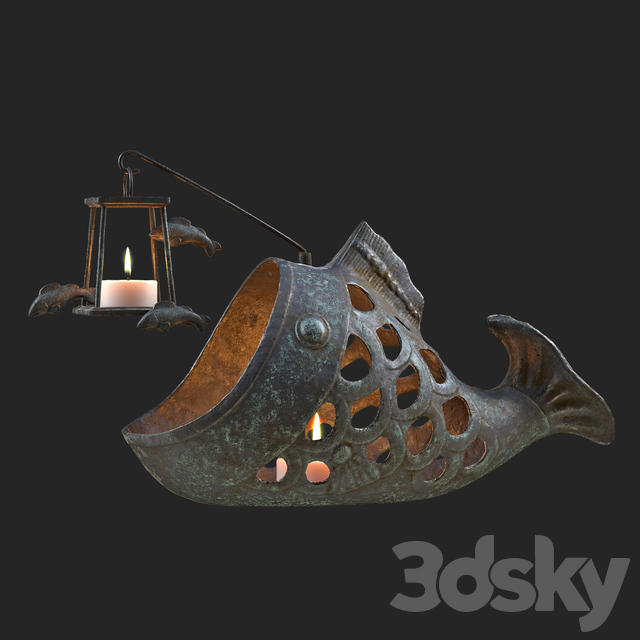 "Candlestick ""Fish anglerfish"""