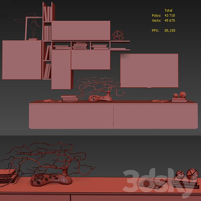 Modular wall Atlante. Tomasella A006