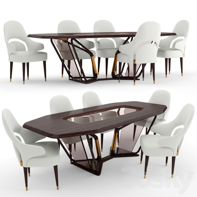 Turri Vine dining chair and table