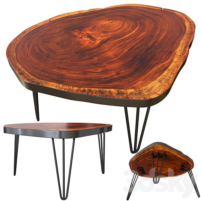 Coffee table. Slab