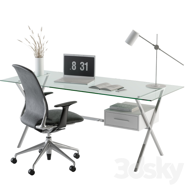 Office desk glass