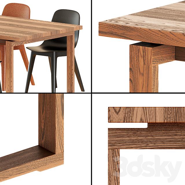 Ikea Mörbylånga Table & Odger Chairs