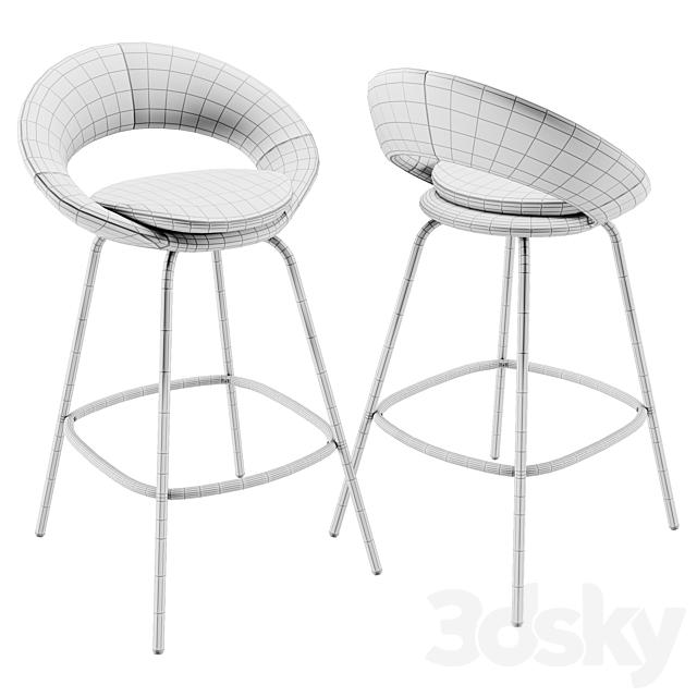 Stella velvet bar stool