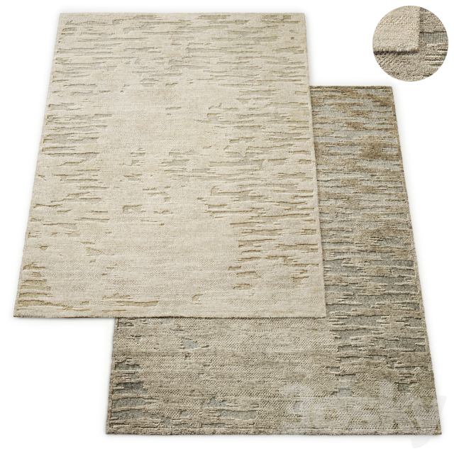 Caldera Hand-Knotted Wool Rug RH Collection